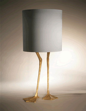 Duck foot lamp